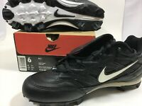 New In Box Nike MCS Baseball Cleats Black / White Size 6