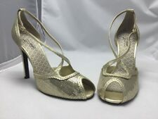 Oh Deer Shoes Gelato Gold Open Toe Sequin 11M 416389