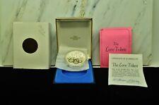 "1976 Franklin Mint ""The Love Token"" Sterling Silver Medal W/ Box & Coa"