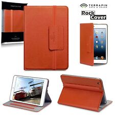 Apple iPad Mini Vintage Orange Saffiano Pro  Folio Book Case Stand USO™