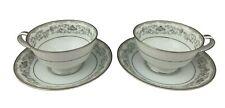 "Noritake China - Westbrook 5907 - Pair Coffee Cups & Saucers - 2 1/8"" - Japan"