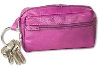 Rimbaldi® Große Leder Schlüsseltasche mit Extrafach in Lila