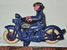 "HUBLEY 5 3/4""  Cast Iron  MOTORCYCLE -Harley Davidson  w/ Civillian Driver"