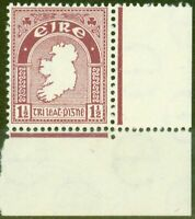 Ireland 1940 1 1/2d Claret SG113 Fine Lightly Mtd Mint