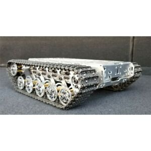 Smart WiFi RC Tank Chassis Metal Tracked Robot Chassis Shock Absorption DIY kit