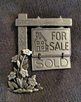 Vtg JJ JONETTE silvertone NEW HOME House Sale Property Estate Agent  brooch pin