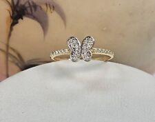 14kt Yellow Gold Butterfly Ring CZ Women, Anillo para Mujer Mariposa, Oro Puro