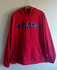Under Armour Men's Red Black Sweatshirt Hoodie Polyester Pullover Size: XL