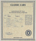 Danbury Mint 1956 White Red Ford Fairlane Sunliner Convertible Certificate Title
