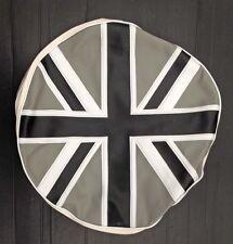 Spare wheel cover silver/black Union Jack for Vespa LML & Lambretta