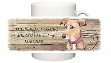 LURCHER HOUND DOG NEW CERAMIC MUG COMBO SANDRA COEN ARTIST WATERCOLOUR PRINT
