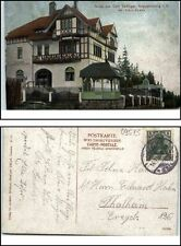 AUGUSTUSBURG um 1910 Gruss aus Café Seeliger Inhaber Albin Knabe n/ Thalheim gel