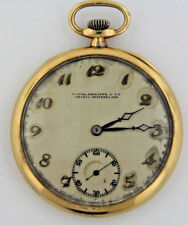 a50c84e68db Antique Patek Philippe Geneva 18J 18K Yellow Gold Swiss Pocket Watch  w Monogram
