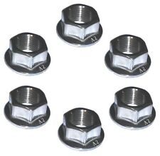 Rear Sprocket Flange Nuts - Yamaha - M10 x 1.25 - A2 Stainless (x6)