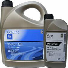 6 Litri Olio Motore Originale GM OPEL Dexos2 5w30 Acea C3 MOTORI BENZINA DIESEL