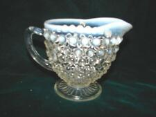 Vintage Anchor Hocking Moonstone Depression Glass Creamer ~ Opalscent
