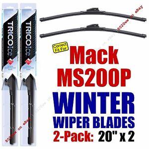 WINTER Wiper Blades 2pk fit 1980-1992 Mack MS200P Mid-Liner - 35200x2