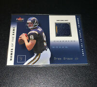 2002 Fleer Names of the Game Patch Drew Brees /500 2nd Year