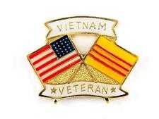 Vietnam Veteran Lapel Pin Cap Hat Pin Tie Tac Usa Flag Vietnam Flag Fast Ship
