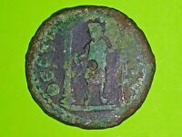 Julia Domna 193 AD Thessalonica Macedonia ancient Roman Coin temple rython G-VG