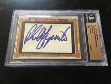 Phil Esposito auto autograph signed 2011 Leaf Cut Signature signed auto card 1/1