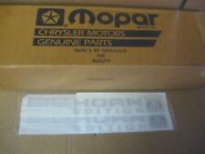 Dodge Ram CHROME BIG HORN EDITION NAMEPLATE EMBLEM OEM NEW MOPAR- pair of 2