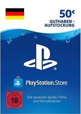 Playstation Network PSN Card-Aufstockun 50€ EUR Deutsches Code PS4 PS3 Vita [DE]
