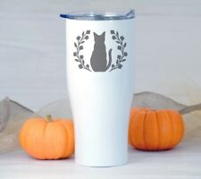 Cat plant  Decal, Yeti Decal, Tumbler Decal, LAPTOP STICKER TRUCK