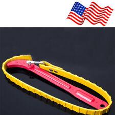 Adjustable Oil Filter Belt Non-slip Rubber Strap Wrench Car Repair Tool US Stock