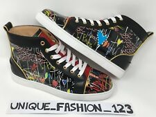 CHRISTIAN LOUBOUTIN LOUIS FLAT LOUBI TAG US 8 7 41 BLACK LOUBITAG CALF LIMITED