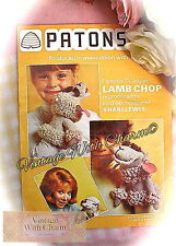70s Knitting Pattern & Crochet Pattern For Lamb Chop the Hand Puppet. JUST 99P!!