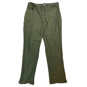 Basic Editions Classic Fit Women's Size 16 Regular Green Dark Wash Denim Jeans