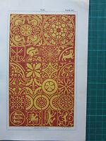 1850 Antico Gotico Architettura Colorato Stampa ~ Piastrelle Oxford Cathedral