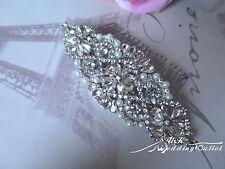 Beautiful crystal rhinestone bridal comb slide accessories beads wedding sparkle