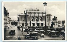 *Stockholm Sweden Kungl Operan och Gustav Adolfs torg Vintage Photo Postcard C42