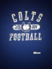 Indianapolis Colts Blue T-Shirt Adult XL 100% Cotton NFL Distressed Design
