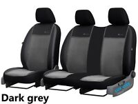 LEATHER & ALICANTE FRONT UNIVERSAL SEAT COVERS FOR MERCEDES VITO W639 2003-2014