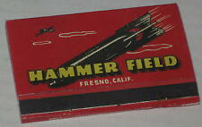 "1940's World War II Army Air Force ""Hammer Field Fresno CA"" Matchbook"