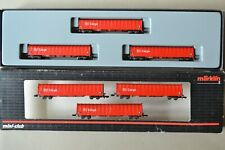 More details for 82420 marklin mini club z gauge: x6 lwb flat cars with retractable tarp cover