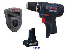 Bosch Battery Drill GSR 12V-15 + Charger GAL 1215 Cv +4,0 Ah Battery 12 V
