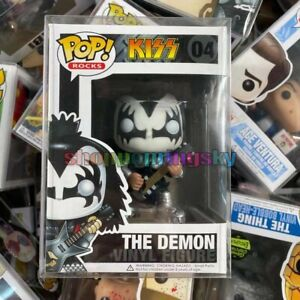 """Funko Pop! Rocks Kiss The Demon #04 Rare Vaulted Retired """"MINT"""" - With Protector"""