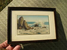Antique Wood Art Crafts Picture Frame Vintage South West The Incoming Tide photo