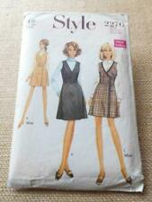 """STYLE 2276 Sewing Pattern VINTAGE 60s WRAP OVER MINI DRESS SMALL 12 34"""""""