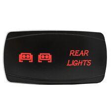 RED REAR LIGHTS On/Off Horizontal Laser Rocker Switch 5 Pin Led 12V UTV