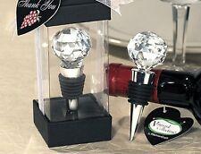 10x Crystal Diamond Wine Bottle Stopper Wedding Favor Bomboniere Bridal Gift