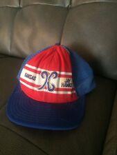trucker hat baseball Cap Kansas Jay Hawks College Mesh vintage SnapBack