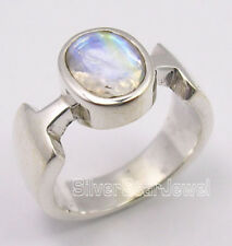 925 Solid Silver Sparkling RAINBOW MOONSTONE FACTORY DIRECT ONLINE Ring Any Size