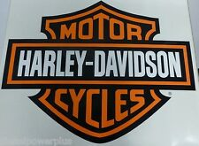 2 harley davidson motorcycle bike Trailer HD garage Huge decal sticker Door Shop