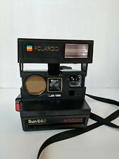 Vintage Polaroid Sun 660 Auto Focus Instant 600 Land Camera Rainbow Strap PARTS