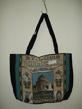 New Mill Street Design Tapestry Canvas Tote Bag  St. Louis World's Fair